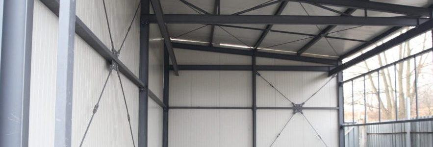 Výroba a montáž menší  výrobní haly včetně opláštění