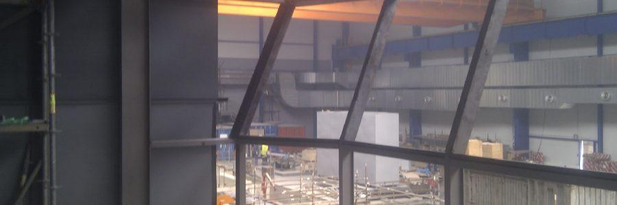 Stavba protihlukové kabiny – řídicího velínu